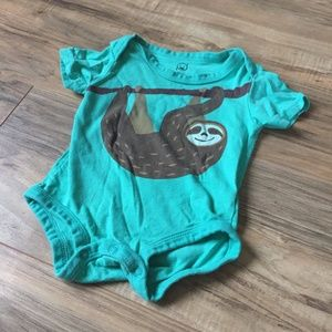 Happy Sloth Onesie Bodysuit 6 Months